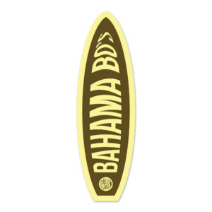 Iconic Surfboard Sticker, Bahama Bo's, 5″