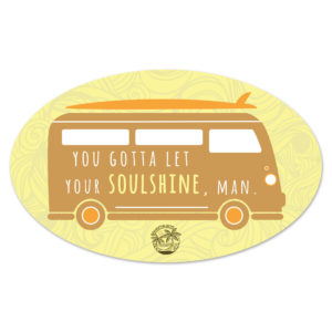 Soul Shine Sticker, Bahama Bo's, 6.5″